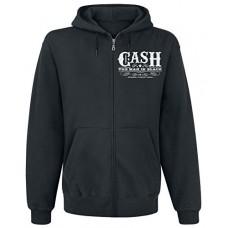 JOHNNY CASH-WHISKEY LABEL -S-BLACK (MRCH)